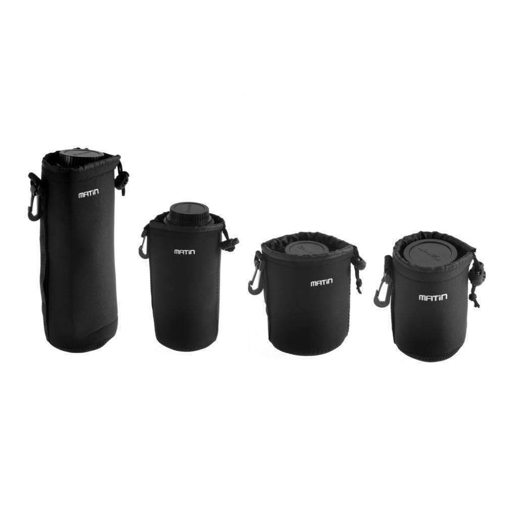 DeeTrade lens bag Neoprene Soft Camera Lens Pouch Set (4 PCS)
