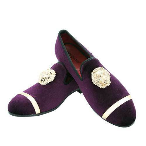 DeeTrade Loafers Velvet Lion Head Handmade Loafers (3 colors)