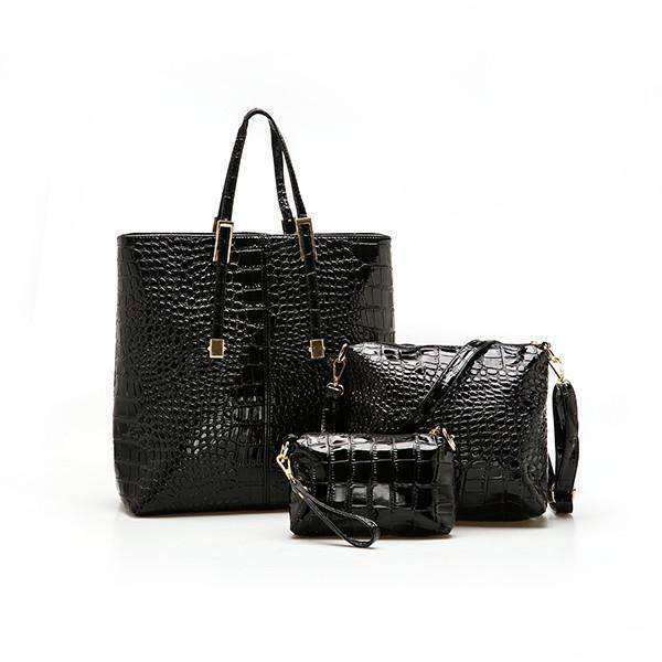 DeeTrade purse 3PCS Crocodile Pattern Handbags Set
