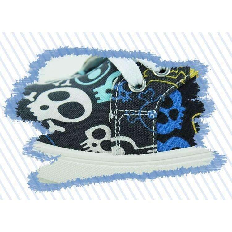 DeeTrade Sneakers Skulls Canvas Sneakers (2 colors)