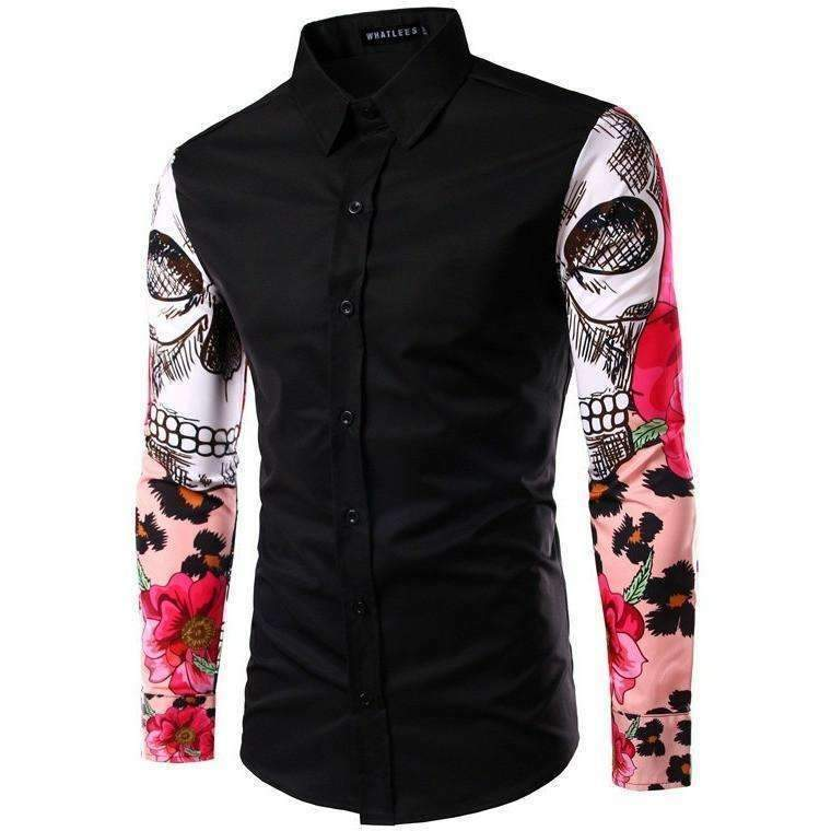DeeTrade Stylish Printed Colorful Shirt - Skulls (3 colors)