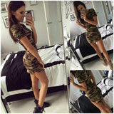 DeeTrade T-shirt Camouflage Mini Dress