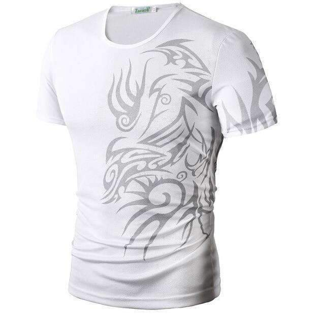 DeeTrade T-Shirt with Printed Tattoo Dragons (5 colors)