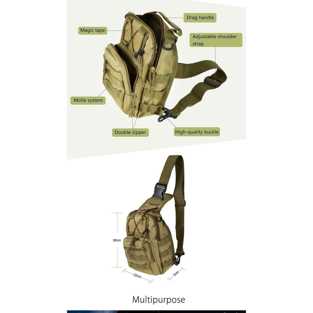 DeeTrade Tactical Crossbody MOLLE Bag (4 colors)