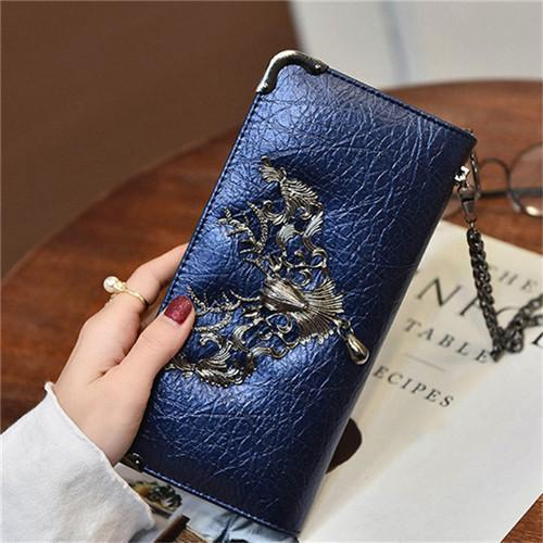 DeeTrade Wallet Skull Leather Purse (5 colors)
