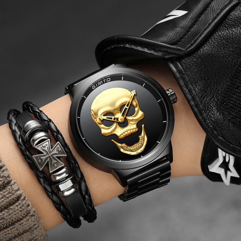 DeeTrade Watch Skull 3D Men's Watch (2 colors)