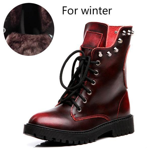 DeeTrade Women's Boots Dyna Skull Boots (3 colors)