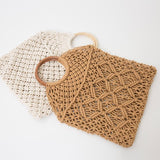 DeeTrade Womens Handbag Macrame Tote Net Bag (3 colors)