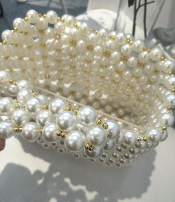 DeeTrade Womens Handbag Pearl Beaded Handbag