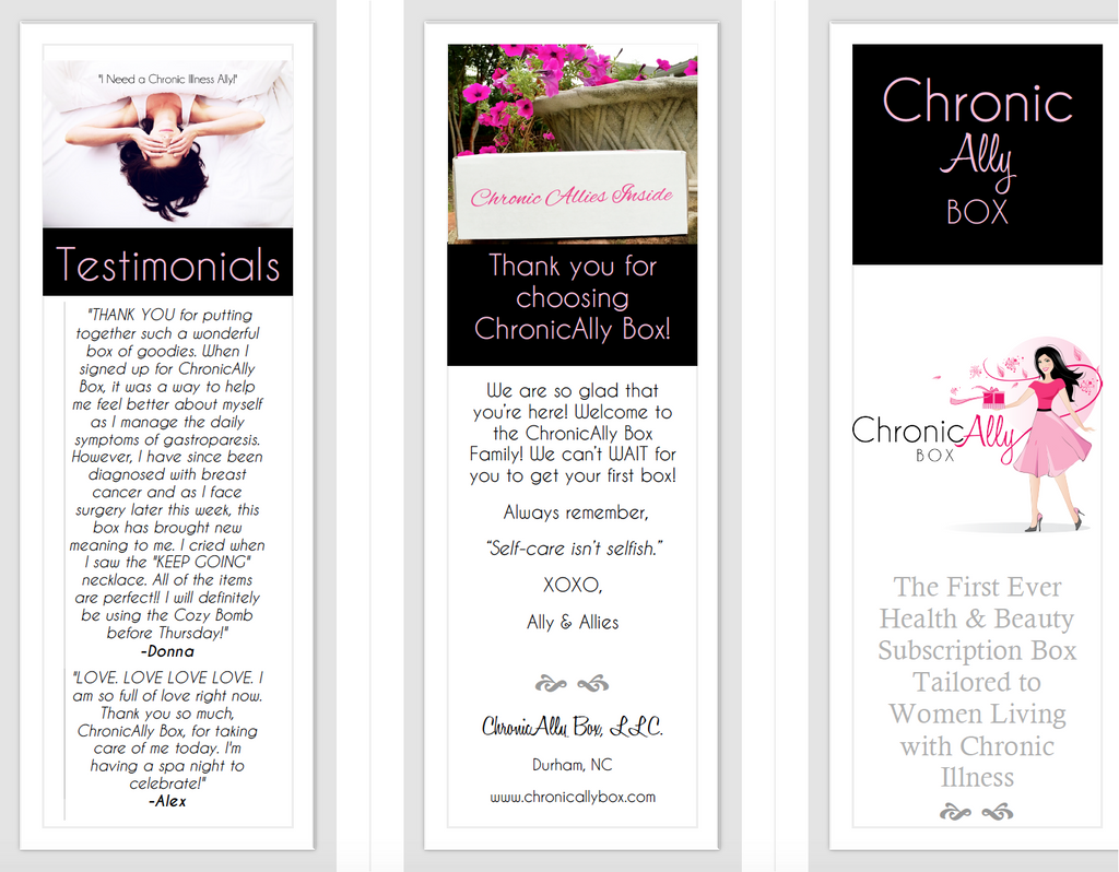 ChronicAlly Box Brochure- New Subscriber
