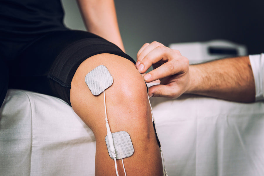 TENS therapy and EMS machine for knee pain in the Georgia Mountains