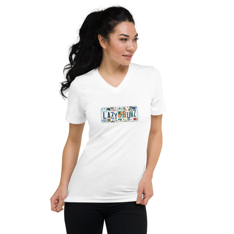License Plate Woman's V-Neck T-Shirt