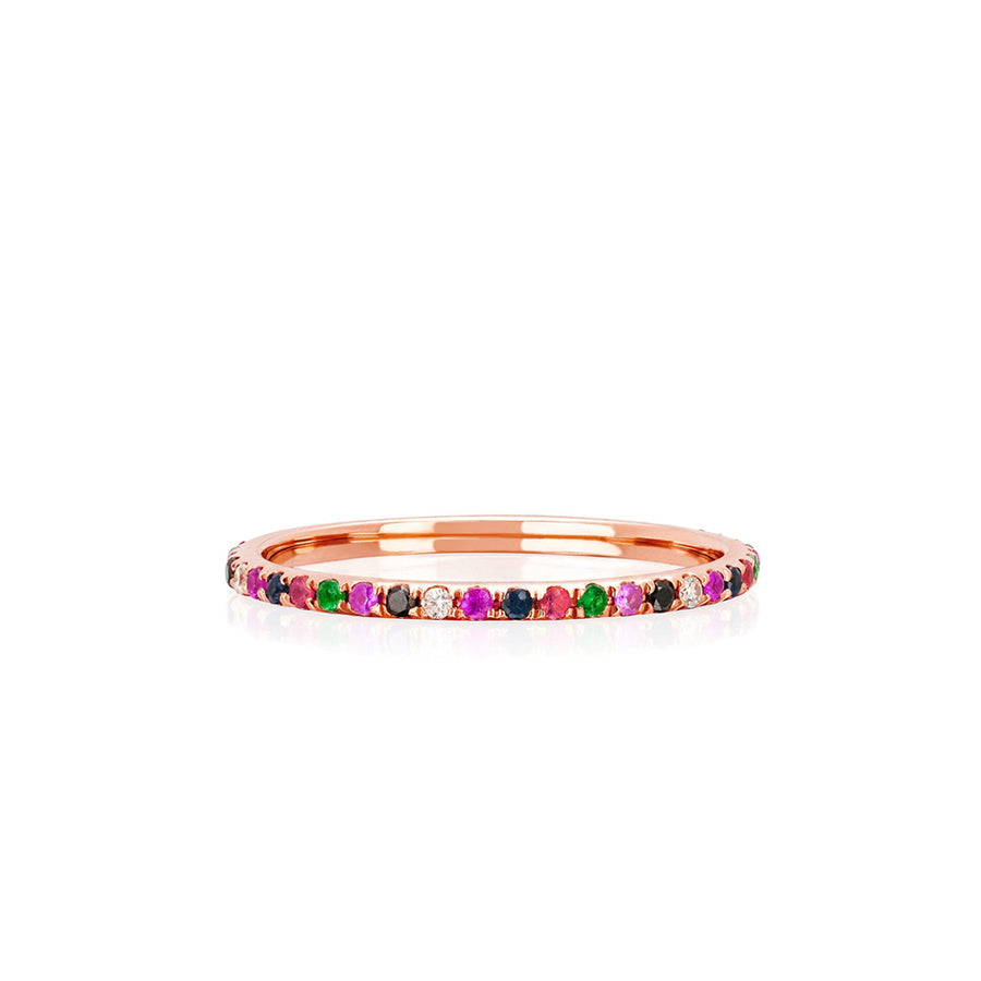 Rainbow Eternity Stacking Band Ring