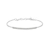 White Gold Diamond Bar Bangle