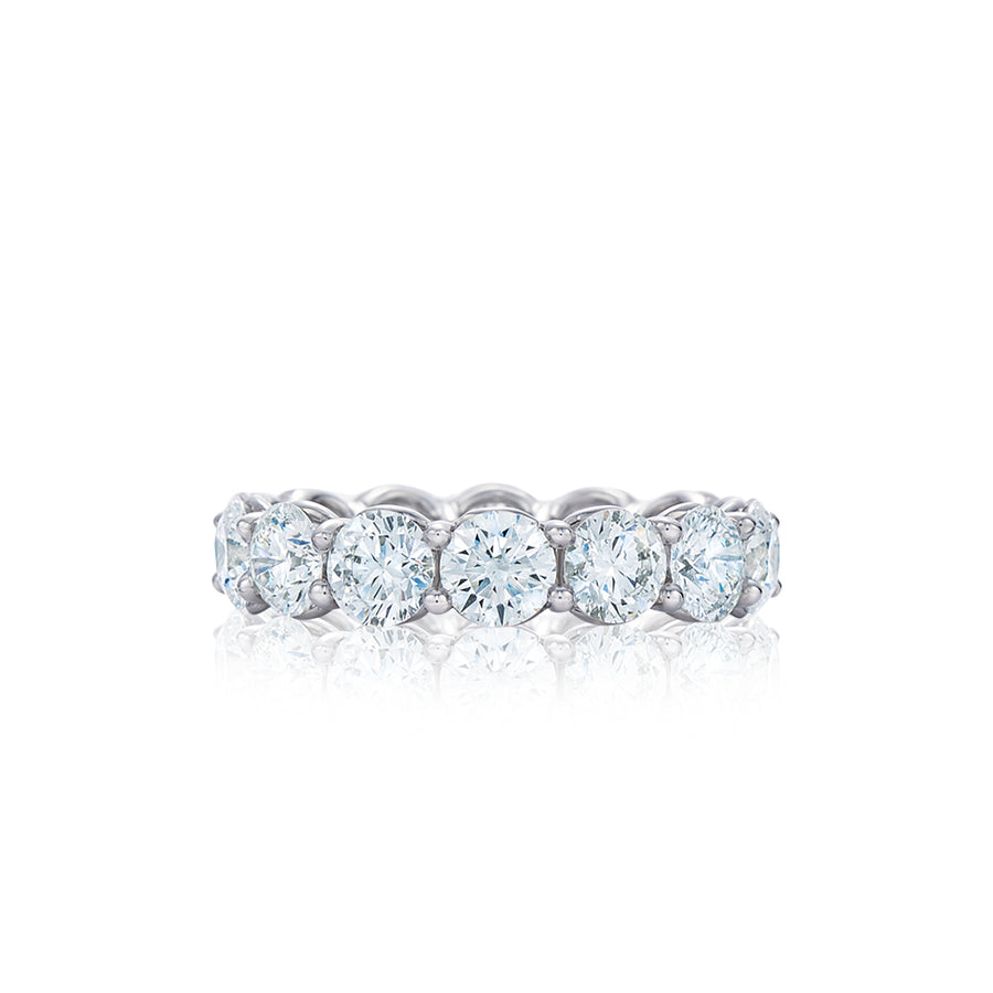 Round Diamond Shared Prong Eternity Band