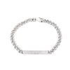 White Gold Diamond Bar Link Bracelet