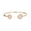 Open Bangle With Druzy
