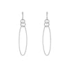 Double Mini Circle Oval Drop Hoop Earrings
