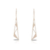 Diamond Geometric Triangle Drop Earrings
