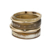 Set of 5 Safari And Gold Bangles