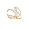 Yellow Gold Diamond Swirl Ring