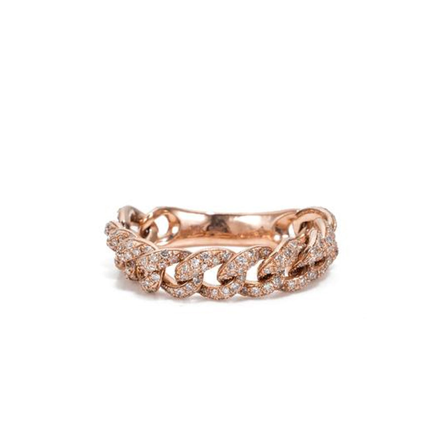 Diamond And Gold Link Band Ring