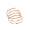 Yellow Gold Diamond Coil Ring