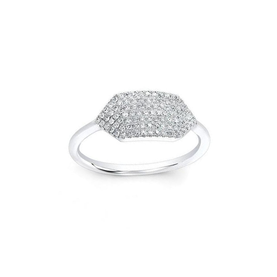 White Gold Diamond Bar Ring