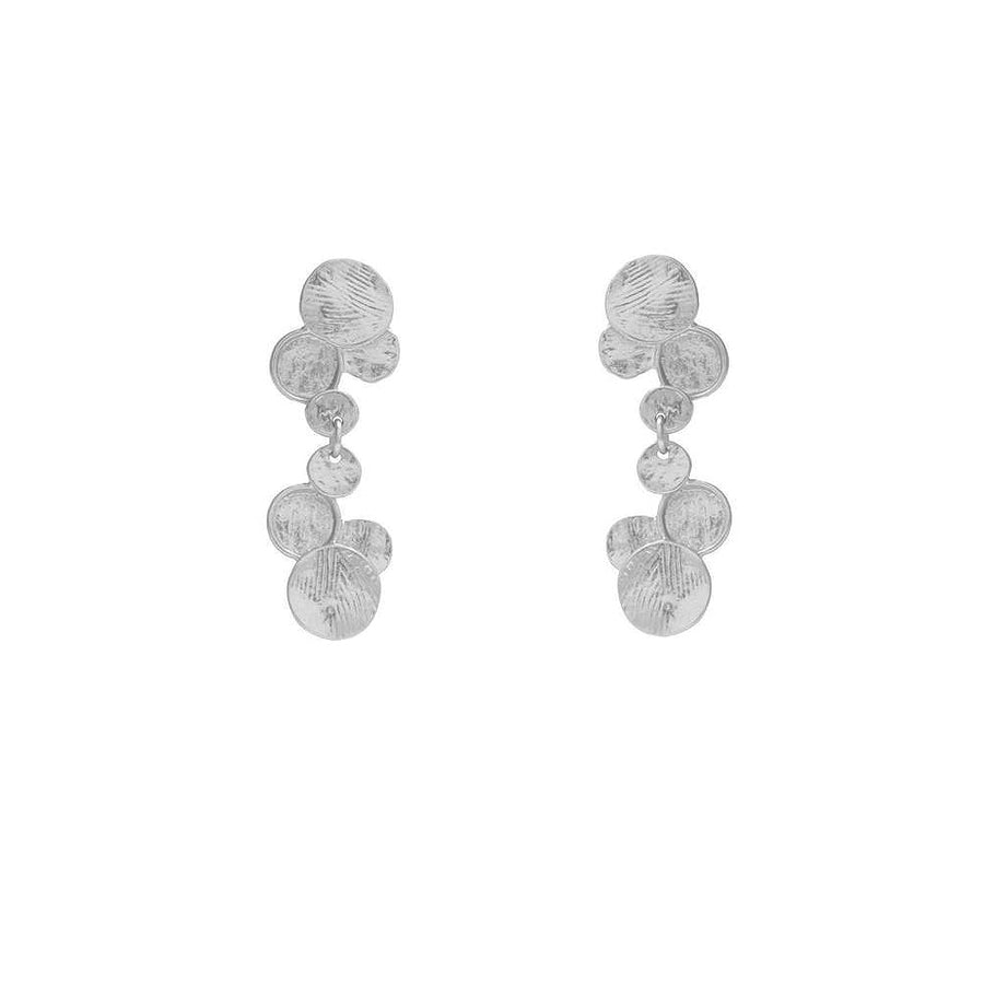 Variated Vertical Disk Drop Earrings