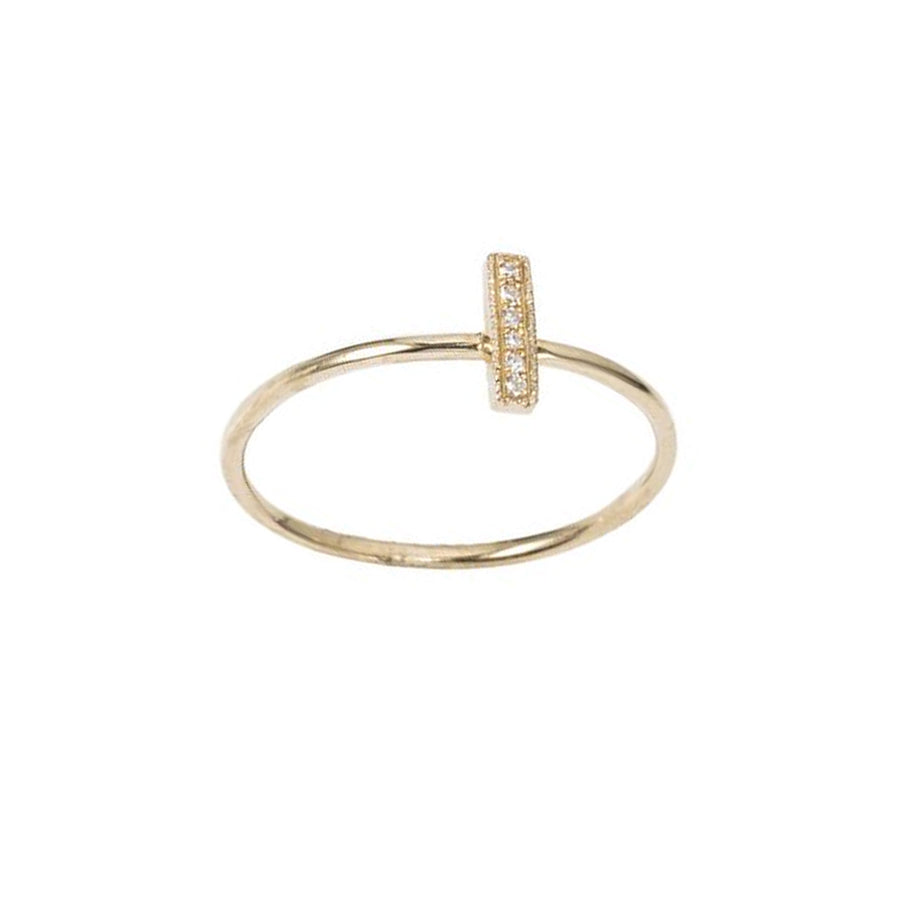 Diamond Mini Bar Ring