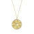 Yellow Gold Diamond Medallion Charm