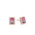 Rose Gold Watermelon Tourmaline Diamond Stud Earrings