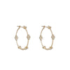 Medium Diamond Hoop Earrings