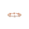 Rose Stackable Faux Diamond Circle Eternity Ring