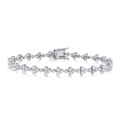 White Gold Diamond Luxe Flower Bracelet