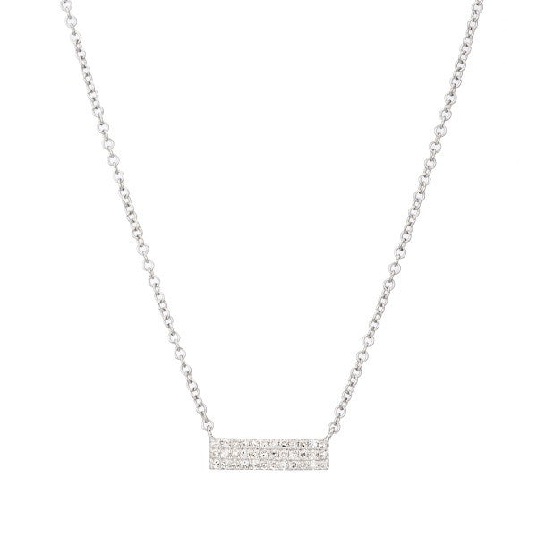 Small Pave' Diamond Bar Necklace