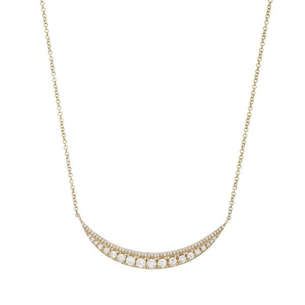 Diamond Crescent Necklace