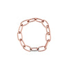 Rose Gold Single Diamond Link Bracelet
