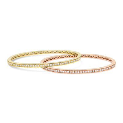 Gold Diamond Eternity Bangle