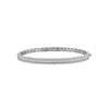 White Gold Diamond Baguette Bangle