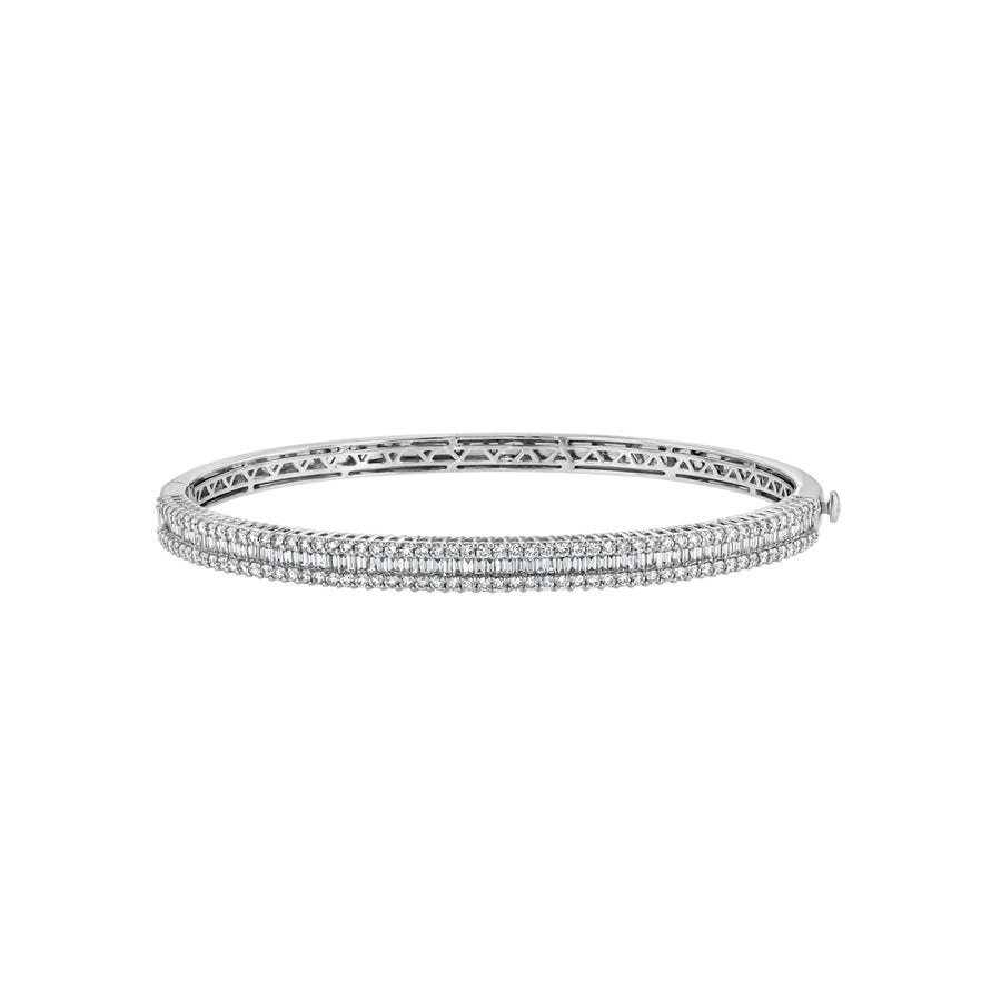 Bling Diamond Baguette Bangle