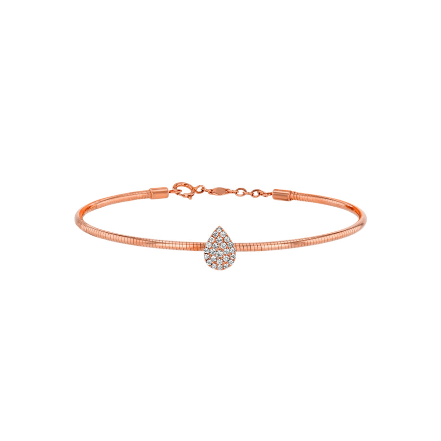 Rose Gold Diamond Pear Bangle