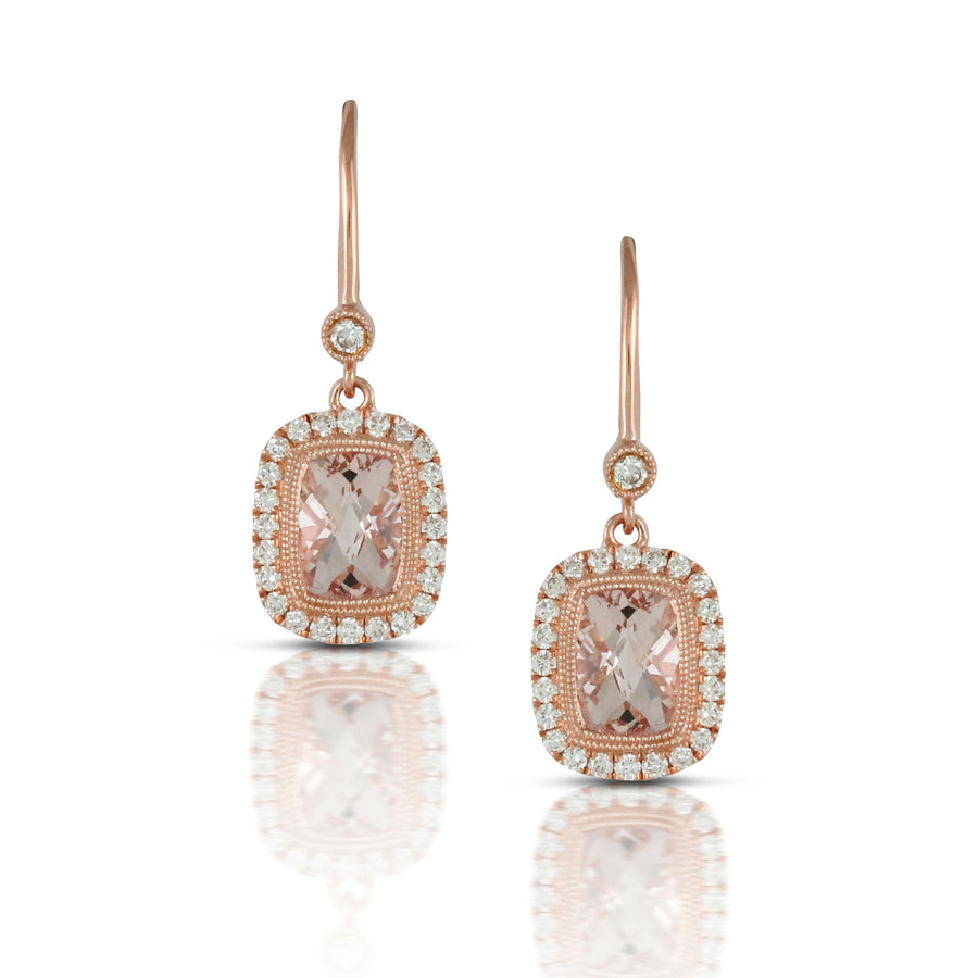 Morganite Drop Earrings
