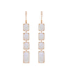 Diamond And Moonstone Statement Drop Earrings