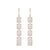 Diamond And Moonstone Chandelier Drop Earrings