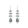 White Gold Diamond Labradorite Vertical Drop Earrings