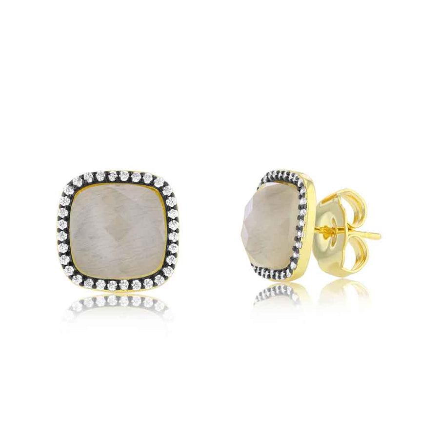 Light Cats Eye Studs