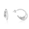 Silver Double Hoop Earring