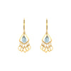 Yellow Blue Quartz Dangle Drop Earring