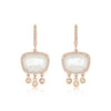 Diamond And Moonstone Drop Earrings